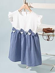cheap -Kids Girls' Houndstooth Dress Blue