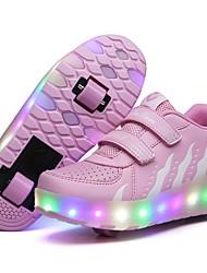 Недорогие -Мальчики Удобная обувь Синтетика Спортивная обувь Большие дети (7 лет +) Черный / Пурпурный / Розовый Весна
