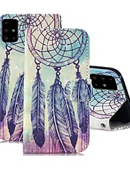 cheap -Case For Samsung Galaxy A51/ Galaxy A20e / Galaxy Note 10 Plus Wallet / Card Holder / with Stand Full Body Cases Feathers PU Leather For Galaxy A71/A10S/A20S/M30S/A2 Core/A10E