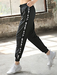 cheap -Women's High Waist Joggers Jogger Pants Track Pants Athleisure Wear Bottoms Running Jogging Training Tummy Control Butt Lift Breathable Sport Black Grey Letter / Micro-elastic / Quick Dry / Quick Dry