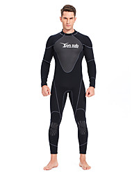 cheap -YON SUB Men's Full Wetsuit 1.5mm CR Neoprene Diving Suit Thermal / Warm Long Sleeve Back Zip - Diving Water Sports Solid Colored Autumn / Fall Spring Summer / Winter / Micro-elastic