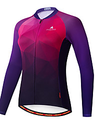 cheap -Miloto Women's Long Sleeve Cycling Jersey Purple Bike Jersey Top Mountain Bike MTB Road Bike Cycling Breathable Quick Dry Sports Clothing Apparel / Stretchy