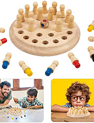cheap -Board Game Educational Toy Wooden Memory Match Stick Chess Game Wooden family game Party Game Parent-Child Interaction Family Interaction Home Entertainment Kids Child's Boys and Girls Toys Gifts