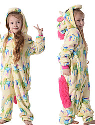 cheap -Kid's Kigurumi Pajamas Unicorn Flying Horse Onesie Pajamas Flannelette Rainbow Cosplay For Boys and Girls Animal Sleepwear Cartoon Festival / Holiday Costumes
