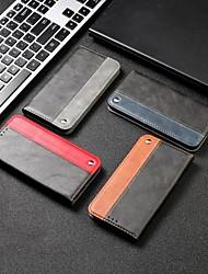 Недорогие -чехол для xiaomi графика сцены redmi note 8 примечание 8 pro note 8t сплошной цвет бизнес шить сильная магнитная карта держатель карты все включено анти-падение чехол для мобильного телефона rx