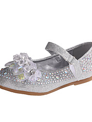 cheap -Girls' Comfort / Flower Girl Shoes PU Flats Dress Shoes Little Kids(4-7ys) / Big Kids(7years +) Rhinestone / Sparkling Glitter / Sequin Blue / Silver Spring / Fall / Party & Evening / Rubber