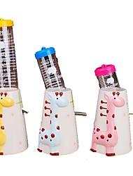 Недорогие -Маленькие зверьки Миски и бутылки с водой 150 L стекло Мини Простота установки Животное Персонажи Желтый Розовый Синий Чаши и откорма
