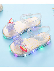 cheap -Girls' Comfort / Jelly Shoes / LED Shoes PVC Sandals Toddler(9m-4ys) Red / Silver Summer