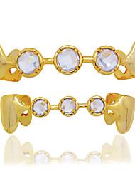 cheap -Teeth Set / Teeth Grills Statement Stylish Luxury Unisex Body Jewelry For Halloween Street Copper Gold Silver 1 set