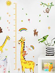 cheap -Kids Height Chart Wall Sticker Decor Cartoon Giraffe Height Ruler Wall Stickers Home Room Decoration Wall Art Sticker Poster 150x78cm