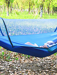 cheap -Camping Hammock Outdoor Breathability Wearable Reusable Adjustable Flexible Folding Nylon PVA for 1 - 2 person Hunting Hiking Beach Blue Army Green Pink 260*130 cm Pop Up Design