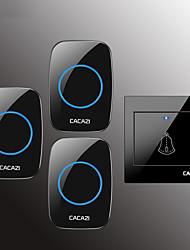 cheap -CACAZI Wireless Doorbell Waterproof Door Bell Transmitter Home Calling Bell 300M Remote LED Button 36 Chime 4 Volume Door Bell