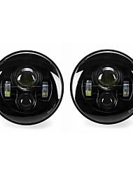 Недорогие -2 х 7 круглых светодиодных проекционных фар высота / ближний свет фар для джипа