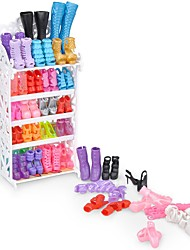 cheap -Doll Shoes 10 Pairs Synthetic Yarn Polyester PVC(PolyVinyl Chloride) For 11.5 Inch Doll Handmade Toy for Girl's Birthday Gifts  Not included shoes rack / Kids