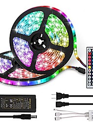 cheap -2x5M LED Light Strips RGB Tiktok Lights LED 5050 SMD 30 LEDsMeters 10mm 44Key IR Controller 12V 6A Power Supply with 4PCS Connecting line Soft Light Strip Kit