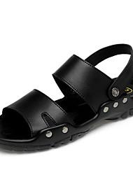 cheap -Men's Sandals Outdoor PU Non-slipping Black Summer