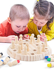 cheap -Board Game Educational Toy Wooden Memory Match Stick Chess Game Wooden Parent-Child Interaction Family Interaction Home Entertainment Kids Boys and Girls Toys Gifts