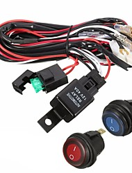 cheap -40A 12V LED Light Bar Wiring Harness Relay On/Off Switch For Jeep Off Road Vehicles ATV