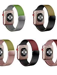 abordables -Acier inoxydable Bracelet de Montre  Sangle pour Apple Watch Series 5/4/3/2/1 24cm / 9 pouces 2.2cm / 0.9 Pouces