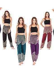 cheap -Women's High Waist Yoga Pants Harem Pocket Bloomers Breathable Quick Dry Black Purple Burgundy Cotton Gym Workout Pilates Dance Sports Activewear Stretchy Loose