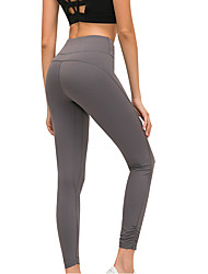 cheap -Women's High Waist Yoga Pants Cropped Leggings Butt Lift 4 Way Stretch Breathable Black Green Light gray Nylon Non See-through Gym Workout Running Fitness Sports Activewear High Elasticity Skinny