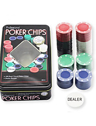 cheap -Casino Token Texas Hold'em Set Vegas Theme Plastic Stainless Steel / Iron for Adults Men's Women's Chips