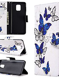 cheap -Case For Xiaomi Redmi Note 8T/Redmi Note 9 Pro Max/CC9 Pro Wallet / Card Holder / with Stand Full Body Cases Butterfly PU Leather For Xiaomi Note 10 Pro/Redmi 8/8A/K30/Note 9S/K20/Redmi Note 8 Pro
