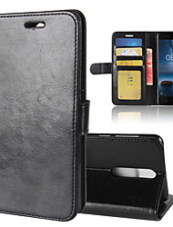 Недорогие -для nokia 8 r64 текстура однократный горизонтальный флип кожаный чехол с держателем&усилитель; слоты для карт&усилитель; бумажник
