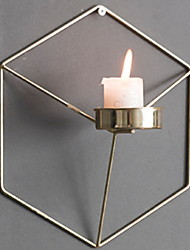 cheap -Nordic simple wrought iron geometric candle holder wall decoration decoration creative home 21x18x12.5cm