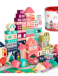 cheap -Building Blocks Wooden Blocks Building Kit Construction Set Toys DIY Toys Architecture House City compatible Wooden Legoing Creative DIY Parent-Child Interaction Boys and Girls Toy Gift / Kid's