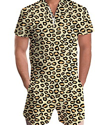 cheap -Men's Basic Yellow Romper Onesie, Leopard Print US32 / UK32 / EU40 US34 / UK34 / EU42 US36 / UK36 / EU44