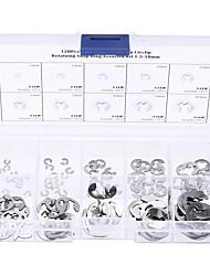 Недорогие -120pcs 304 е-клип стопорное пружинное кольцо электронного типа стопорное ассортимент комплект 1.5-10mm