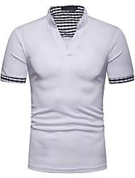 billige -Herre Ensfarvet Patchwork T-shirt Basale Hawaiiansk Daglig Hvid / Sort / Rød / Lysegrå / Mørkegrå / Navyblå