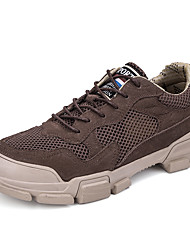 cheap -Men's Fall Casual / British Daily Outdoor Trainers / Athletic Shoes Hiking Shoes / Walking Shoes Nappa Leather / Mesh Breathable Non-slipping Shock Absorbing Black / Khaki / Brown 3D