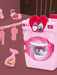 Недорогие -домоводство Ролевые игры Игрушка стиральной машины Прачечная Play Toys Обучающая игрушка Пластик Вращающийся Мини моделирование Детские Мальчики и девочки Дары