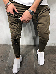cheap -Men's Joggers Jogger Pants Running Pants Track Pants Sports Pants Athletic Athleisure Wear Bottoms Drawstring Running Walking Jogging Training Breathable Moisture Wicking Soft Sport Black Dark Green