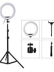 cheap -10/26CM LED Ring Light Photographic Selfie Ring Lighting with 1.6M Collapsible Stand for Smartphone Youtube Makeup Video Studio Tripod Ring Light