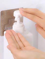 Недорогие -4 шт. Многофункциональный держатель ванной клей стойку стены хранения для мытья тела бутылка шампуня настенные самоклеющиеся крючки сильный цвет случайный