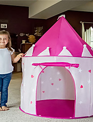 cheap -Play Tent & Tunnel Playhouse Tent Kids Play Tent Castle Teepee Castle Princess Star Foldable Glow in the Dark Convenient Polyester Polyester Microfiber Indoor Outdoor Spring Summer Fall 3 years+ All