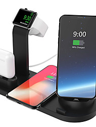 cheap -10W Qi Wireless Charger Dock Station 4 in 1 For Iphone Airpods Micro USB Type C Stand Fast Charging 3.0 For Apple Watch Charger
