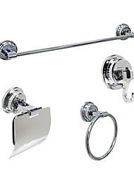 Недорогие -набор принадлежностей для ванной комнаты выдвижной кабель / многофункциональный современная нержавеющая сталь + комплект абс 3шт - для ванной комнаты настенный