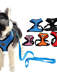 cheap -Cat Dog Harness Adjustable / Retractable Cosplay Textile Camouflage Color Black / Pink