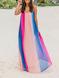 cheap -Women's Strap Dress Maxi long Dress Sleeveless Rainbow Summer Elegant 2021 Rainbow S M L XL XXL