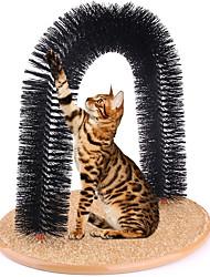 Недорогие -Интерактивный Массажер для тела Царапины Меховая щетка Собаки Коты Животные Игрушки 1 Портативные Простота установки Дерево Подарок