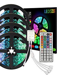 cheap -ZDM High-Quality Black PCB 20M(4*5M) Flexible Light Strip 600 x 5050 RGB IR 44 Key 4-wire Double sided board Controller DC12V