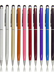 cheap -2pcs 2 In 1 Capacitive Pen Metal Coloful Touch Screen Pen Stylus Pens  Ballpoint Pen for Smart Phone Ipad Tablet