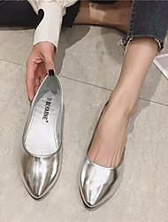 cheap -Women's Sandals Flat Sandal Summer Flat Heel Closed Toe Daily PU Gold / Silver / Gray