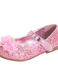 cheap -Girls' Comfort / Flower Girl Shoes PU Flats Dress Shoes Toddler(9m-4ys) / Little Kids(4-7ys) Bowknot / Pearl / Sequin Dusty Rose / Blue / Silver Spring / Fall / Party & Evening