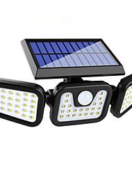 cheap -10W New 74LED Solar Wall Lamp Photovoltaic Split Solar Courtyard Lamp Outdoor Lamp Human Body Sensor Lamp