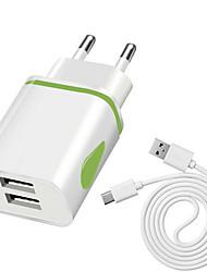 Недорогие -Зарядное устройство USB LITBest P9 set 2 Настольная зарядная станция С кабелями зарядного устройства Евро стандарт / Универсальный Адаптер зарядки